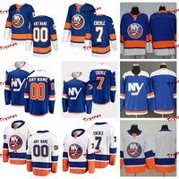 2019 New York Islanders J Eberle Stitched Jerseys تخصيص قمصان بديلة NY Blue 7 J Eberle Hockey Jerseys