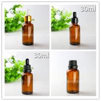 DHL gratuito Esvaziar Vidro Âmbar E suco Dropper Bottles 30ml Atacado essenciais frascos de óleo recarregáveis 30 ml Pipeta