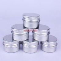 1000pcs / lot 10g 15g 20g 30g vuoti barattoli crema alluminio, cosmetici caso vasetto, 20ml metallo scatola balsamo immagazzinaggio contenitore labbro