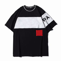 Shirt 19ss lettere ricamo Designer per Uomo Donna T-shirt estate casuale Streetwear manica corta Abbigliamento traspirante S-2XL