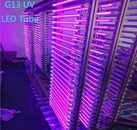 T8 LED UV 395-400nm tubo 4ft AC100-305V 22W 28W bi Pin G13 Luci 96-192 LED lampadine a raggi ultravioletti disinfezione Germ