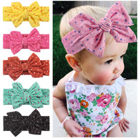 Kinder Haarschmuck Big Knot Stirnband für Baby-Jungen-Bow Stern Punkt gedruckt Stirnband Kinder Boutique Kopfbedeckung
