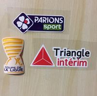 Cupé da liga de France Coupe da liga 2017 Remendos avec tous les sponsors Football Badge