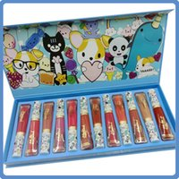 Newest Limited Edition Cartoon Animals Lip Gloss Set 12 Colo...