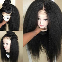 10a grau a melhor qualidade de renda completa perucas brasileiras cabelo humano virgem kinky gluels em linha rendas perucas dianteiras para mulher negra