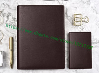 Первоклассный дневник дневника коричневый чешуйщик плед холст, покрытый реальная кожаная кожа R21065 настольная повестка дня повестка дня знаменитый дизайнер Bifold планировщик ноутбук держатель