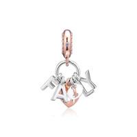 2019 Giornata della mamma 925 gioielli in argento sterling sterling perfetto perline di fascino della famiglia perline adatti a collana di braccialetti Pandora per le donne fai da te