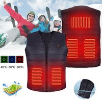 Lavável exterior USB Infrared Heating elétrico Coletes casacos impermeáveis Homens Mulheres Inverno Quente térmica Roupa da motocicleta Skiing