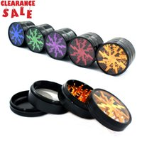 Clearance herb grinder top quality aluminum alloy 63mm 4 pie...