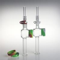 Novo kit de coletor de néctar de vidro de 10mm 14mm com 7,5 polegadas 10ml recipiente de silicone recipiente keck clipes de quartzo coletor net