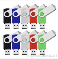 En gros 10 PCS 8 Go USB Flash Drive Swivel Thumb Pendrives USB 2.0 mémoire colle True Storage pour ordinateur portable Multi Couleurs