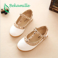 Bekamille 2017 New Girls Sandals Kids Leather Shoes Children...