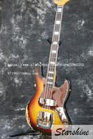تصميم جديد بقايا الكهربائية باس غيتار SR-037 1961 FD JAZZ 4 سلاسل SR-037 بقايا اليدوية الزيزفون أميركي Bodyl