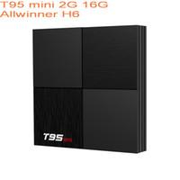 T95 Mini Akıllı TV Kutusu Android 9.0 Allwinner H6 2GB RAM 16 GB ROM 6K 2.4G WiFi Media Player