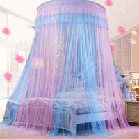 Bunte Moskitonetz Princess Insect Net Eintürig Hung Dome Betthimmel Netting Runde Moskitonetz am häufigsten verwendete