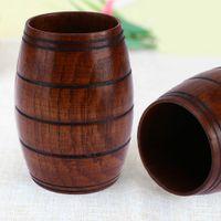 صديقة للبيئة كوب خشبي كبير البطن البيرة كوب العناب الخشب منحوتة ثلاثة خط الكلاسيكية القدح خشبي اكسسوارات المطبخ بار drinkware