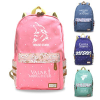 Game of Thrones 8 Luminous Canvas Backpack Bookbag Teenager ...