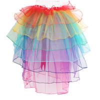 나이트 클럽 무대 댄서 공연 예술 스커트 vestidos 공주 버블 스커트 새로운 도착 여성 섹시한 레인보우 퍼프 볼