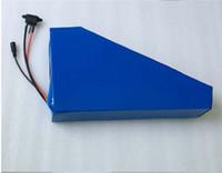 72 voltios Li-Ion Akku 72V 18AH batería de litio triángulo paquete 18650 celda para bicicleta eléctrica