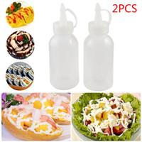 Lagerflaschen Gläser 2 stücke 100ml Kunststoff Küchenzubehör Squeezer Flaschenspender für Ölsauce Liquid Ketchup Kochwerkzeuge