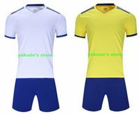 2019 Namet Nummer Logo-Fußball-Jersey Personalisieren Customized Fußball-Team-Hemd Männer Fußball-Trainingsanzug Soccersport Kit Uniform