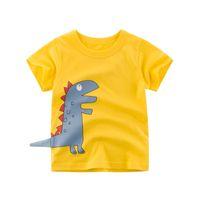 Niños de 2 a 7 años de verano de manga corta Tops, 2019 Moda Casual Ropa para Niños, Niñas dinosaurio Diseño desgaste cómodo, 6AZB812TP-21