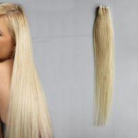 Cinta de 100 g en extensiones de cabello humano recto 1b # 2 # 4 # 6 # 613 # cinta rubia en extensiones 40pcs Remy Tape en extensiones de cabello