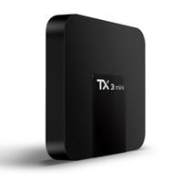 صندوق التلفزيون TX3 مصغرة 1GB 8G 2G 16G BT أفضل الروبوت 7.1 مربع التلفزيون دعم 4K H.265 1080P HD دفق الفيديو