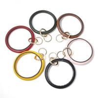Encanto Chaveiros Couro Enrole Pulseiras Key Pingentes Cadeia Titular Bangles Chaves Anel Pulseiras DIY Wristlet Car Chaveiros Acessórios 6 cores