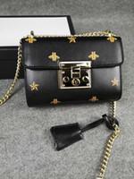 Marca de fábrica famosa paquete bolsos crossbody bolsa de mensajero de manera empaqueta bolsa de hombro de la señora Bee cuero auténtico 2019 Estilo