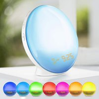 Wake- Up Light Alarm Clock with Colored Sunrise Simulation an...