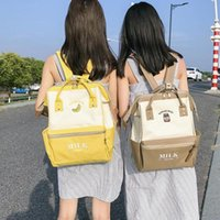 wholesale Preppy Style Soft Canvas Floral Print Backpack Fem...