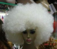 موضة جديدة بيضاء كبيرة الأفرو شعر مستعار للنساء تسليم الباروكة الحرة