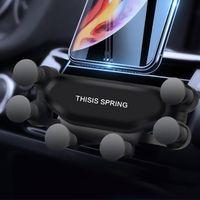 Car Gravity Phone Holder Air Vent téléphone cellulaire support automobile rétractable Support pour iPhone Samsung