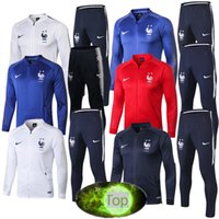f6afc192997 Hot Franch tracksuit jackets Sportswear 1819 maillot de foot Mens tracksuits  Franch soccer jackets Long sleeve+pants Set clothing
