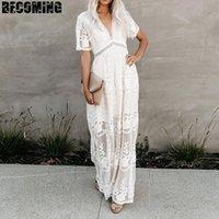 Gebelik Elbise Fotoğrafçılık Dantel Büyük Boyut Yaz Vneck Hamile Elbise için ateş Fotoğraf Annelik Fotoğraf İçin Vur Dantel