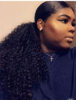 Elegante baixo afro crespo crespo afro-americano rabo de cavalo 1 pcs clipe em Elegante e ir cabelo humano virgem rabo de cavalo extensão do cabelo