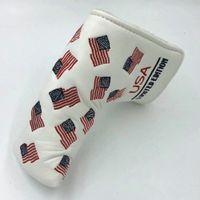 Nueva llegada PU EE.UU. Bandera edición limitada Club de Golf de la hoja cubre la cabeza del Putter Headcover del regalo de Navidad de cumpleaños de negocios