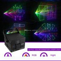 1W DMX512 ILDA RGB Animation Beam Pattern Pattern Laser Projector Light DJ Party Party Show Gig Nightclub Profession Stage Lighting FB6