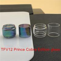 Smok TFV12 Książę Cobra Edition Wymiana zbiornika Wymiana Szklana Rura Fatboy 8ml Bubble Convex Normal 5ml Szkło Clear Rainbow