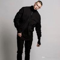 Atacado-mens bomber estilo jaqueta MA1 hip hop jaqueta preta Mens Slim Fit Hip Hop piloto jaquetas de beisebol casacos de roupas