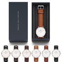 DANIEL WELLINGTON Classic Herren 40mm Damen 36mm Luxusuhr Top Qualität Quarz Fashion Brand Designer Uhr DW Watch Echtes Leder Orologio