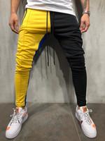 Новая мода Уличная Спортивные штаны для мужчин Причинная спортивная одежда Bump, соединяющая штаны Модные мужские хип-хоп спортивные штаны брюки