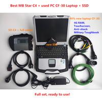 Bonne qualité MB STAR C4 avec ordinateur portable CF30 CF30 SD Connect C4 avec le plus récent Soft-Ware 2021.03 Vediamo + DTS Fit pour l'outil de diagnostic automobile