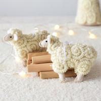 Nordic Style Christmas Hängende Dekoration handgefertigte Wollfilz kleine Schafe festliche Partei liefert