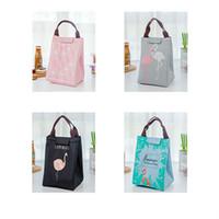 Portable Flamingo Lunch Bag Stampato borsa scuola di viaggio del sacchetto del pranzo dispositivo di raffreddamento isolato sacchetti pranzo Tote Scatole