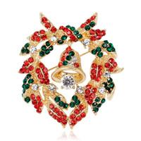 زهرة جميلة الجرس متعددة الألوان ورقة زهرة والقوس اكليلا من الزهور بروش هدية عيد الميلاد للاصدقاء التصميم الجيد