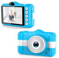 3.5 بوصة كامل HD 1080P أطفال الأطفال مصغرة الكاميرا الرقمية الأمامية والخلفية كاميرا بطاقة ذاكرة كاميرا الفيديو لمدة 3-10 سنة