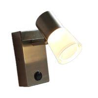 Topoch våningssäng nattlampor Lampa Borstat nickel Finish Switch ON / OFF PMMA + Al Bostadsriktning Justerbar 3W 200lm Bekvämt ljus Ingen bländning
