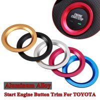 Starten Sie den Motor Knopf-Zündung-Ordnungs-Abdeckkappe Ring für TOYOTA RAV4 C-HR Auris Vios Hochländer Alphard Reiz für Ford Für Cadillac